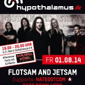FLOTSAM AND JETSAM support: HATEDOTCOM & FACE DOWN HERO