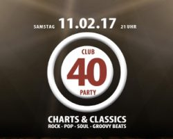 CLUB 40 PARTY: 5 x 2 Tickets zu gewinnen!