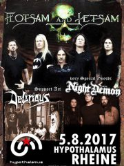 FLOTSAM AND JETSAM & very special guests NIGHT DEMON + support DELIRIOUS