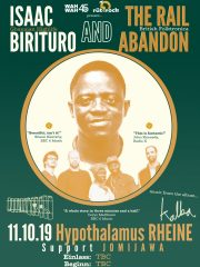ISAAC BIRITURO & THE RAIL ABANDON // Support: JOMIJAWA